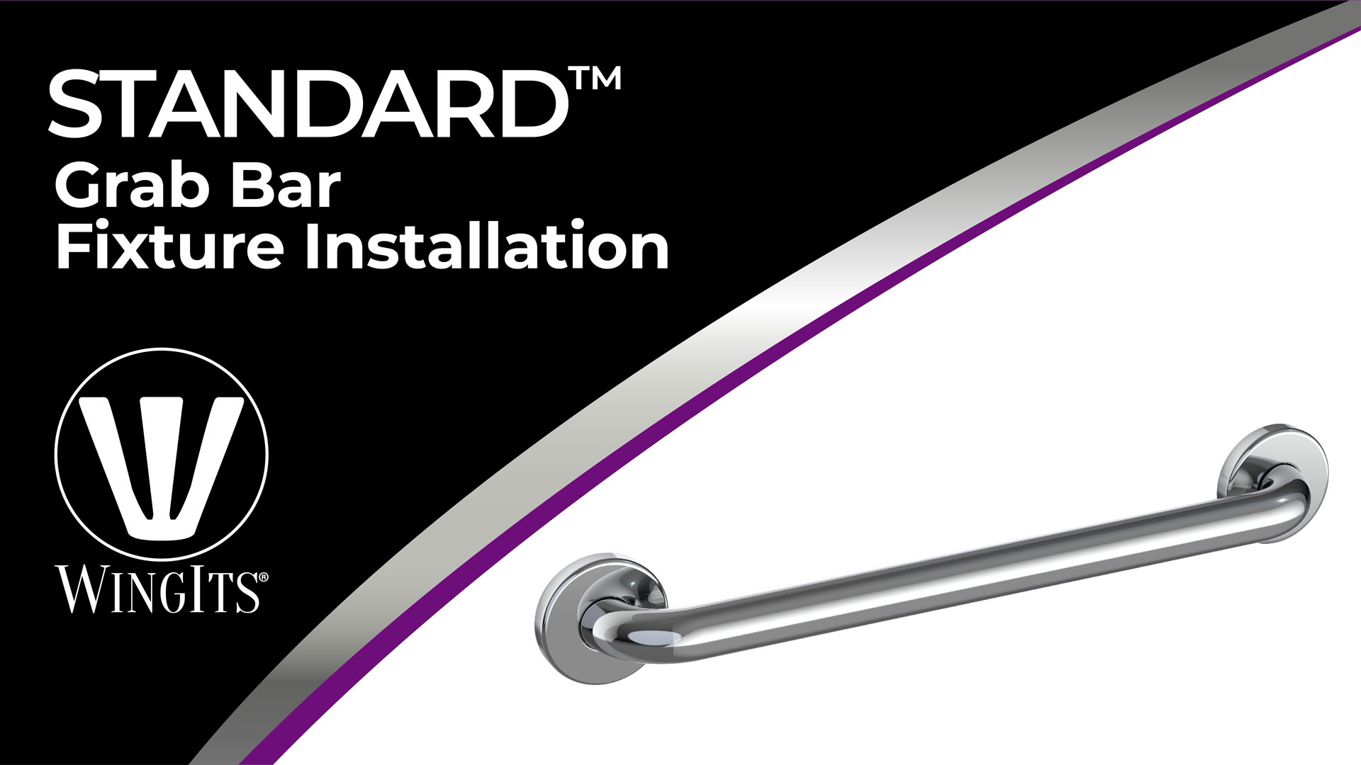 30-Inch Length by 1.25-Inch Diameter Concealed Mount WingIts WGB5SS30 STANDARD Grab Bar Satin Stainless Steel